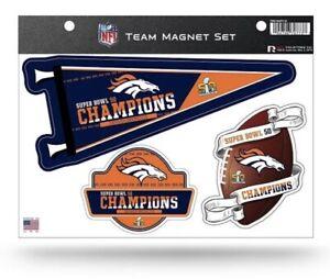 Denver Broncos Super Bowl 50 Champions Multi Die Cut Magnet Sheet Auto Football