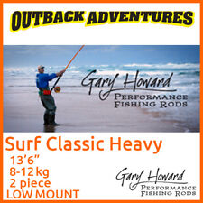 "GARY HOWARD SURF CLASSIC HEAVY 13'6"" FISHING ROD 13FT6 8-12KG 2 PIECE LOW MOUNT"