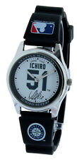 Collectible Basebal ICHIRO SUZUKI SEATTLE MARINERS MLBP WRIST WATCH BLACK STRAP