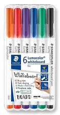 STAEDTLER 301 WP6 Whiteboard Drywipe Pens, Assorted Colours, Case of 6 Pens