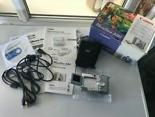 Canon PowerShot A80 4.0 MP Digital Camera - Silver  With Memory Card Working