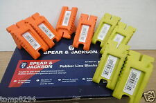 4 PAIRS OF SPEAR & JACKSON RUBBER CORNER LINE BLOCKS SJ RLB OY   ORANGE & YELLOW
