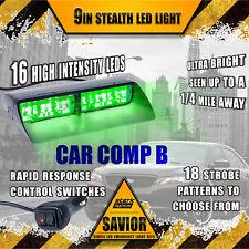 16 Led Emergency Dash Car Vehicle Windshield Warning Flash Strobe Light Green A(Fits: Neon)