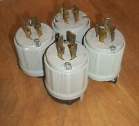 Lot of 4 Hart-Lock 20A 250V 30 MALE Twist-Lock Plug