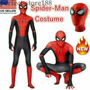 Spider-Man: Far From Home Kid Adult Peter Jumpsuit Cosplay Costume Party Zentail