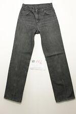 Levi's 566 Es ist prest grau boyfriend Jeans gebraucht (Cod.W112) Tg.41 W27 L32