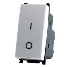 Interruttore Bipolare 1 Modulo T2 Bianco /Nero/Alluminio Compatibile Vimar Plana