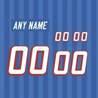 New England Patriots 1995-99 BlueJersey Customized Number Kit un-stitched