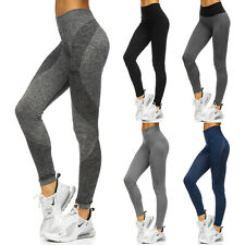 Leggings Trainingshose Sporthose Leggins Slim Fit Basic Damen Mix BOLF Fitness