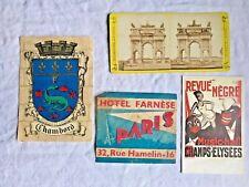 Antique French Letters Postcards Paper Ephemera 4pc Paris Chambord & Milan -Rare
