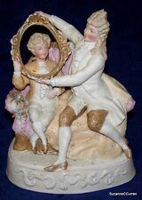 Unusual Antique Conta & Boehme NODDER Court Figures German Bisque Figurine