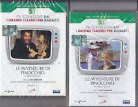 2 Dvd Sceneggiati Rai LE AVVENTURE DI PINOCCHIO Collodi Comencini Manfredi nuovo