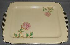 Homer Laughlin WELLS - PINK ROSES PATTERN Art Deco RECTANGULAR PLATTER