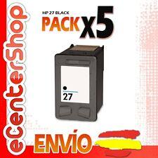 5 Cartuchos Tinta Negra / Negro HP 27XL Reman HP Officejet 5615