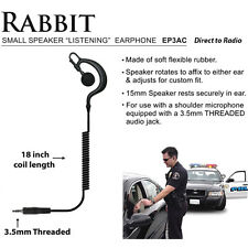 RABBIT 3.5mm Threaded Listen Only Police Earpiece for Motorola XTS Series Radios