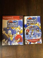 Sonic Heroes Greatest Hits (Sony PlayStation 2, 2005) PS2 CIB TESTED