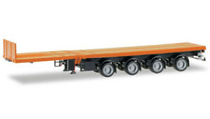 Herpa 076203-007 – Nooteboom Semi-Remorque Plate-Forme À 4 Axes – 1:87