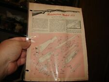 REMINGTON 22 Rim Fire Model 572 Rifle EXPLODED VIEWS 1959 Magazine Article