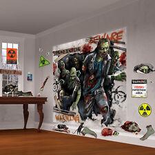 Halloween Mega Zombie Horror Invasion Party Scene Setter Wall Decorating Kit