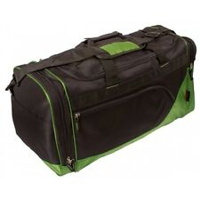 Sports Gym Bag Black Green Medium Double Handle And Strap
