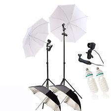 Clkit 13 150W Bombilla Lámpara continua plata paraguas blanco soporte de luz