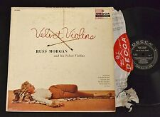 50's CHEESECAKE COVER Russ Morgan Velvet Violins Decca 8642 TIGER RUG COVER
