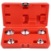 Oil Filter Wrench Remover Socket Set 5pc 24,27,32,36,38mm Cr-V 6pt