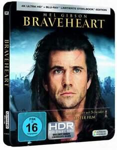 """BRAVEHEART"" - Mel Gibson - Historiendrama - 4K UHD BLU RAY STEELBOOK - neu/OVP"