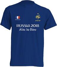 MAILLOT EQUIPE DE FRANCE FOOTBALL RUSSIE 2018 ALLEZ LES BLEUS T-SHIRT HOMME