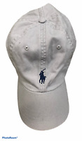 POLO RALPH LAUREN Grey Baseball Cap Hat Adjustable Cotton Size One Size OS