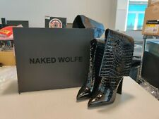 Naked Wolfe Twiggy Croc Patent Leather Boots - US Size 9