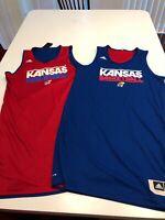 Game Worn Used Adidas Kansas Jayhawks Basketball Reversible Practice Jersey 3XL