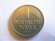 1954G German Federal Republic 1 Deutsche Mark KM# 110 ULTRA RARE!