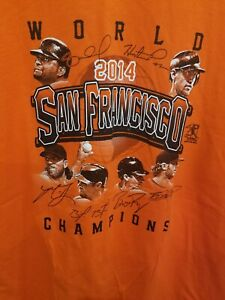 San Francisco Giants T-Shirt tee 2014 World Series Champions Size Adult XL
