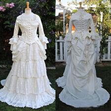 Blanco Vestido para Boda Baile Medieval Gótico Renacimiento vestuario de teatro formal Goth
