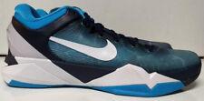 Nike Zoom Kobe VII 7 Size 10 Shark Obsidian White Blue Grey Current 488371-401