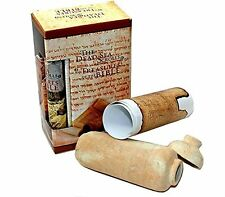 Dead Sea Biblical Qumran Scrolls Replica Clay Jar and Script from the Holy Land