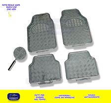 Tappetini auto gomma universali tappeti set colori argento carbonio antiscivolo