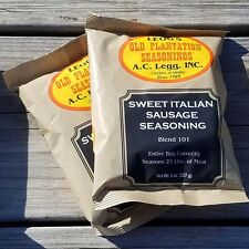 AC LEGG'S OLD PLANTATION SWEET ITALIAN SAUSAGE SEASONING BLEND #101, 2 PACKS