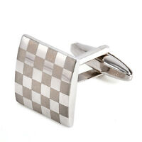 Silver Square Stainless Steel Mens Wedding Gift Cuff Links Cufflinks Attire