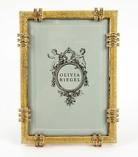 "Olivia Riegel Gold Cassini Frame 5"" x 7"" Picture Photo Frame Swarovski crystals"