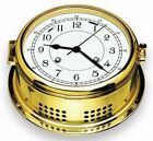"Victory BA591 ""Skipper"" 6"" Brass 8 Day Ship's Bell Clock Arabic 135-1114"