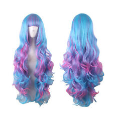 My Little Pony Princess Celestia Cosplay Wig Rainbow Long Curly Full Hair Wig