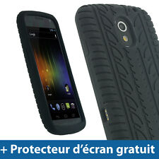 Noir Pneu Étui Housse Silicone pour Samsung Galaxy Nexus i9250 GT-i9250 Coque