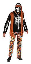 talla única muerto 1960s # Traje Hippy Para Hombre Esqueleto Disfraz Miedo