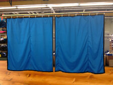 Lot of (2) Royal Blue Curtain/Stage Backdrop, Non-FR, 12 H x 11 W