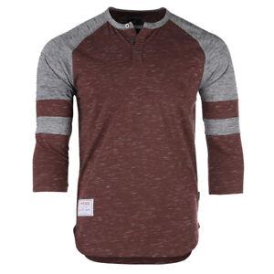 ZIMEGO Men's 3/4 Sleeve Henley Shirt Casual Raglan Baseball Fashion Athletic Tee