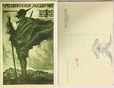 2019) Cartolina VI Gruppo Alpino 1918 Val Toce Aosta Cervino Levanna Torino