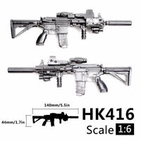 1/6 Scale M416 HK416 Rifle Gun Assemble Model Puzzles Block Bricks Action Figure
