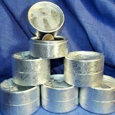 6 Ring Boxes,Round Silver Cardboard,Bow on Lid Jewelry USA FAST